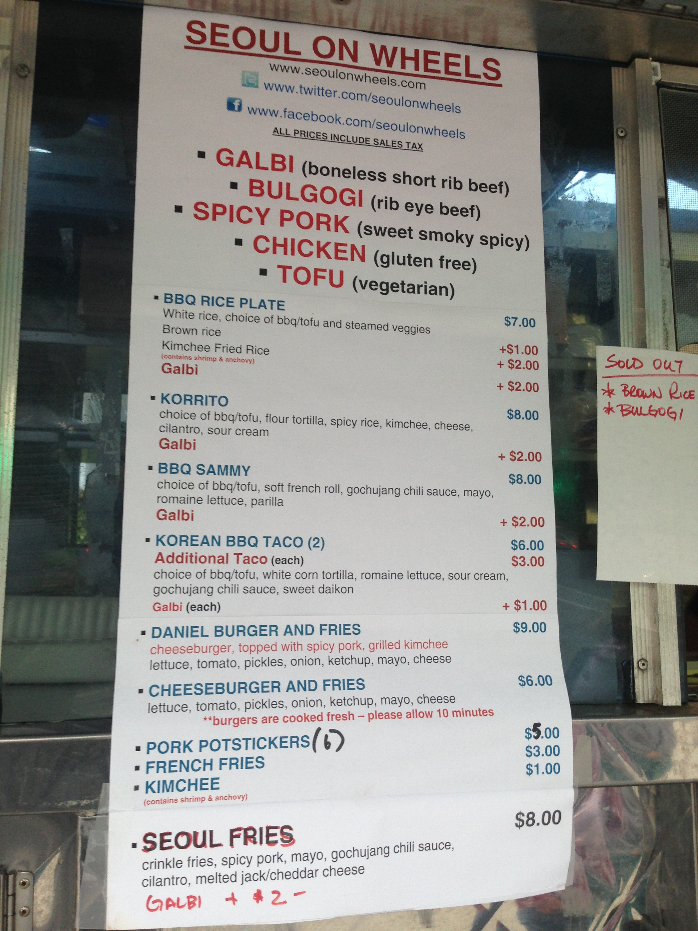 seoul on wheels menu best food trucks bay area