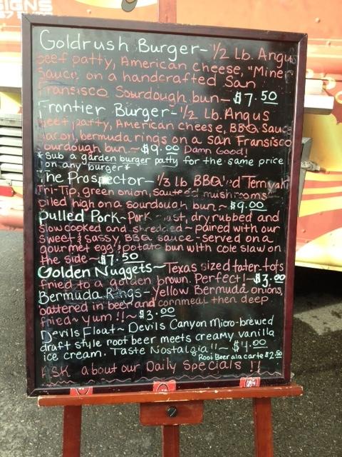 Gold Rush Eatery menu