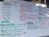 Los Tolucas menu