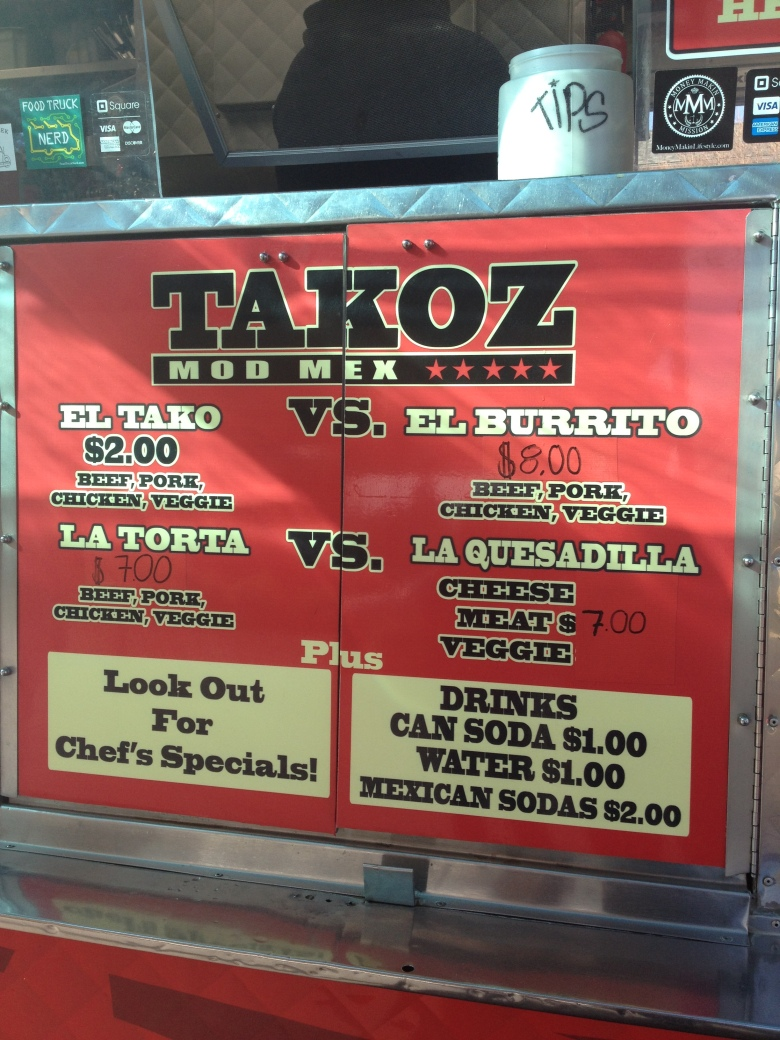 Takoz menu best food trucks bay area for Kitchen 88 food truck utah menu