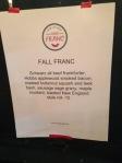 Chez Franc menu