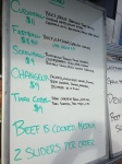 Curveball Slider truck menu