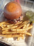 Duck pastrami slider