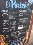 El Porteno menu
