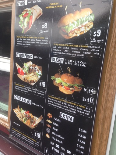 Kabob Trolley menu