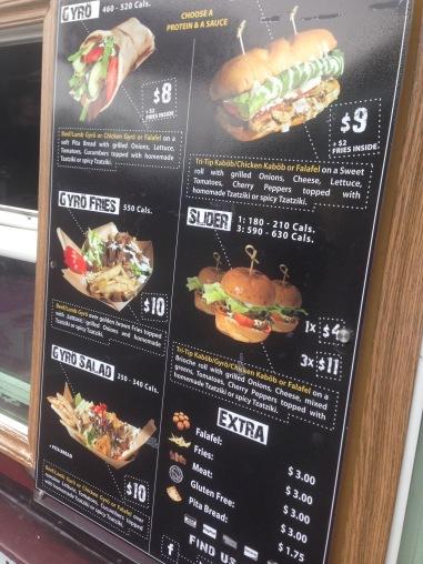 Kabob Trolley menu