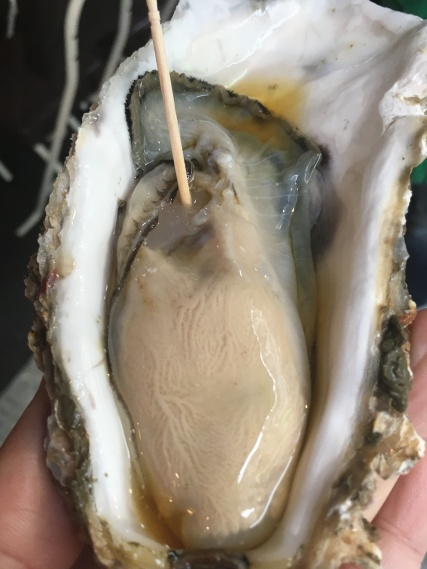 Tokyo fish market oyster