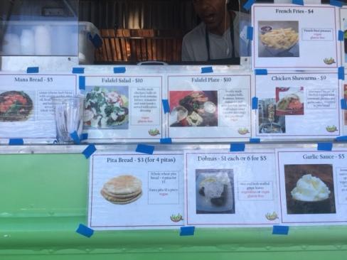Falafel Fresh menu
