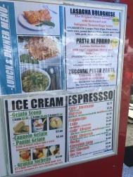 Dolce Sicilia menu