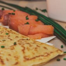 smoked salmon ricotta french crepe