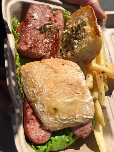 Choripan sandwich